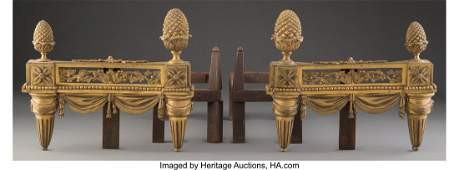 61015 A Pair of French Louis XVIStyle Gilt Bronze Che