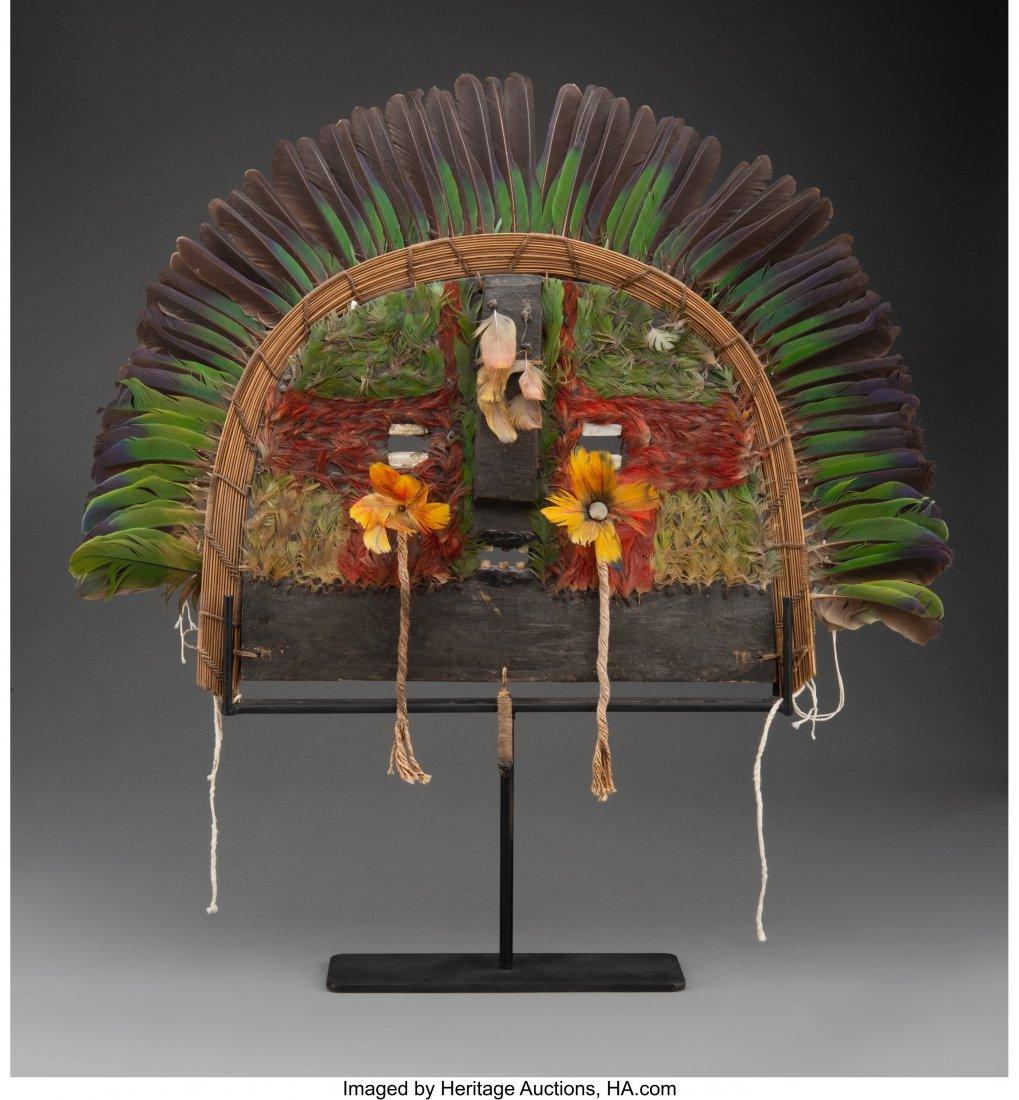70116: A Cara Grande Shaman's Mask  Tapirape peoples, B