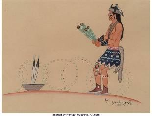 Harrison Begay (Navajo, 1917 – 2012) Dan