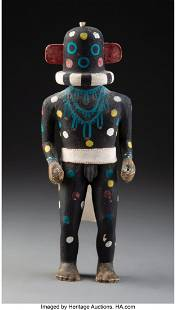 A Hopi Kachina Doll Representing Kokosori c. 1