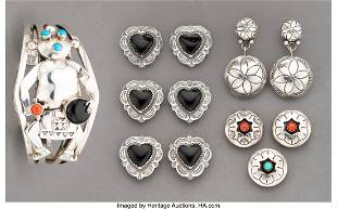 70540 Eleven Southwest Jewelry Items including a mudh