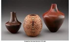 70551: Three Navajo Pottery Jars the polychrome examp