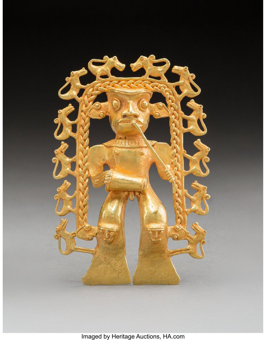A Large and Important Gran Cocle Gold Pendant P