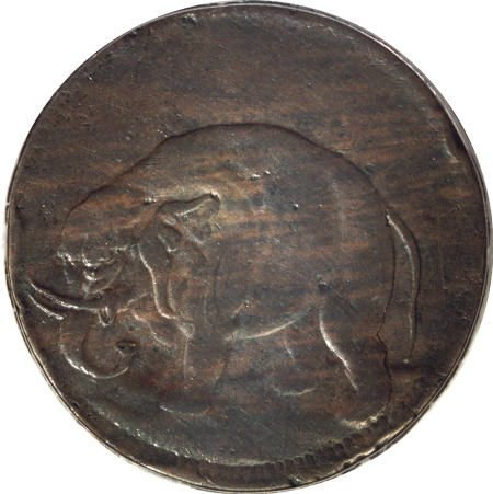 10: (1694) TOKEN London Elephant Token, Thick
