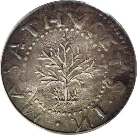 3: 1652<SHILNG Oak Tree Shilling XF45 PCGS.