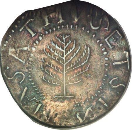 5: 1652<SHILNG Pine Tree Shilling, Large Planchet