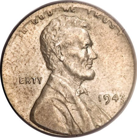 1458: 1943 1C Lincoln Cent--Struck on a Silver Dime