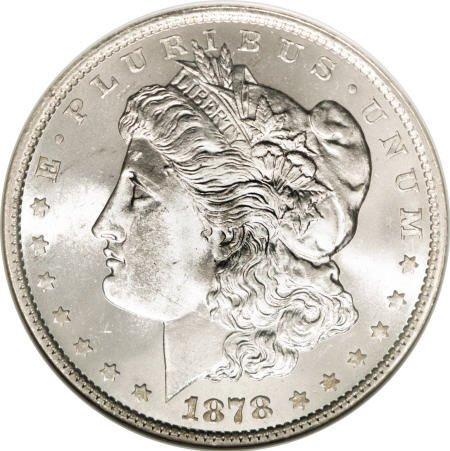 2572: 1878 7TF $1 Reverse of 1879 MS65 NGC.