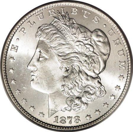 2573: 1878 7TF $1 Reverse of 1879 MS65 PCGS.