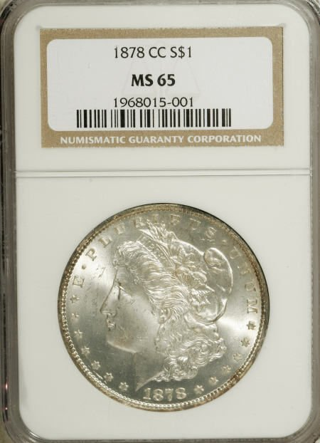 2574: 1878-CC $1 MS65 NGC.