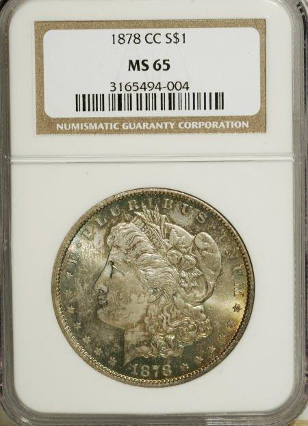 2575: 1878-CC $1 MS65 NGC.