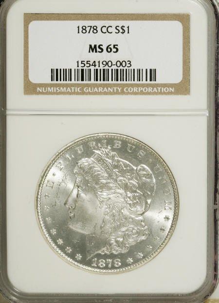 2576: 1878-CC $1 MS65 NGC.