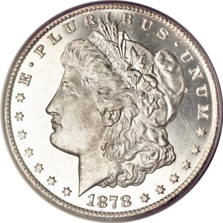 2579: 1878-CC $1 MS65 Prooflike PCGS.