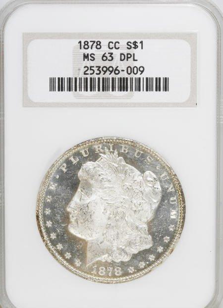 2580: 1878-CC $1 MS63 Deep Mirror Prooflike NGC.