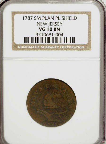 7022: 1787 COPPER New Jersey Copper, Small Planchet, Pl