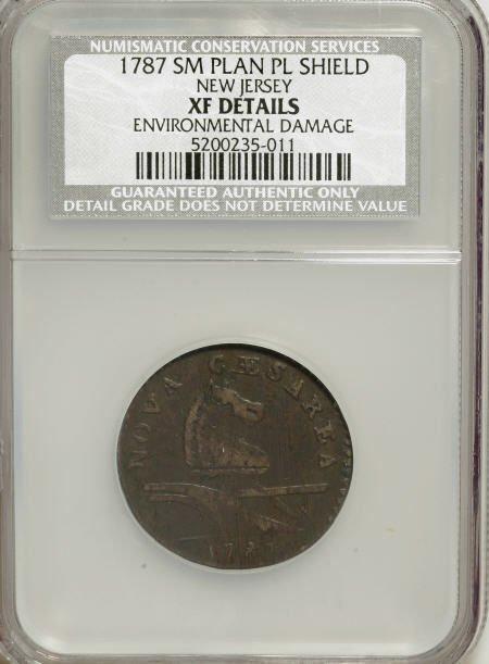 7024: 1787 COPPER New Jersey Copper, Small Planchet, Pl