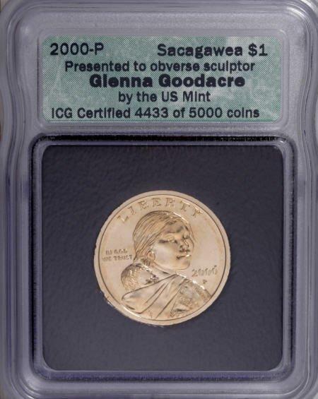 9651: 2000-P<SAC$1 Goodacre ICG. Presented to obverse