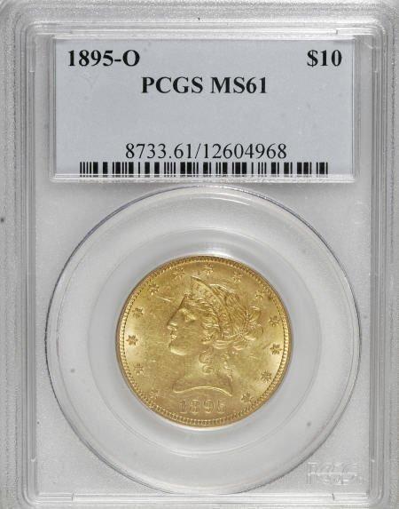 10014: 1895-O $10 MS61 PCGS. PCGS Population (95/73). N