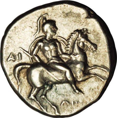 20004: Ancients Calabria, Taras. Ca. 272-240 B.C. AR