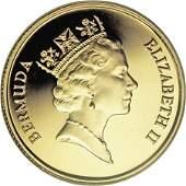 20311 Bermuda Elizabeth II gold 50 Dollars 1989