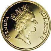 20313 Bermuda Elizabeth II gold 100 Dollars 1989
