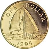 20317 Bermuda Elizabeth II gold Dollar 1995