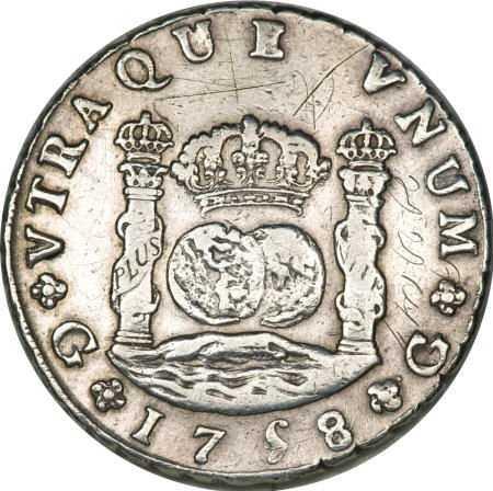 21360 Guatemala Ferdinand Vi Pillar 8 Reales 1758 J