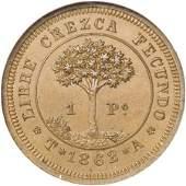 21398: Honduras Provisional Copper Pattern Peso