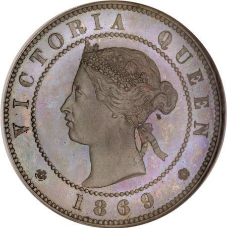 21538: Jamaica Victoria Pattern 1/2 Penny Struck in