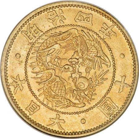 21554: Japan Meiji 4 (1871) gold 10 Yen,