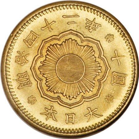 21560: Japan Meiji 42 (1909) gold 10 Yen,
