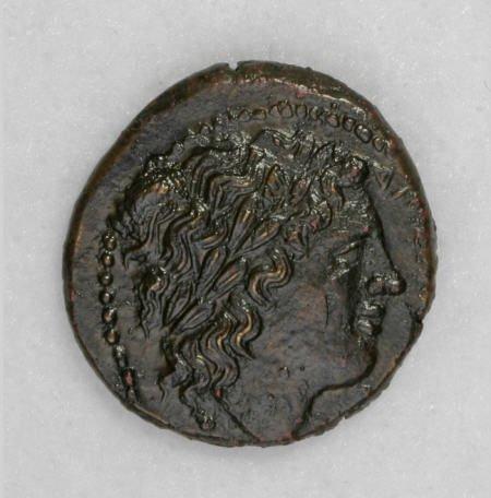 22853: Ancients Sicily, Syracuse. Hiketas II.