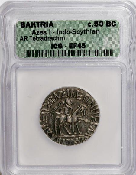 22870: Ancients Indo-Skythian Kingdom. Azes. Ca. 58-19