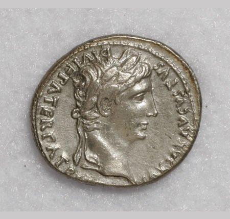 22874: Ancients Augustus. 27 B.C.-A.D. 14. AR denarius