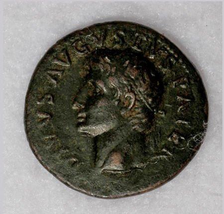 22875: Ancients Divus Augustus. Died A.D. 14. AE