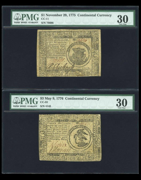 12001: Continental Currency Assortment PMG Graded.