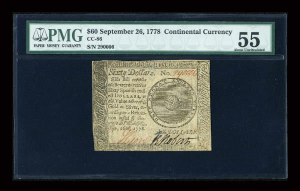 12016: Continental Currency September 26, 1778 $60 PMG