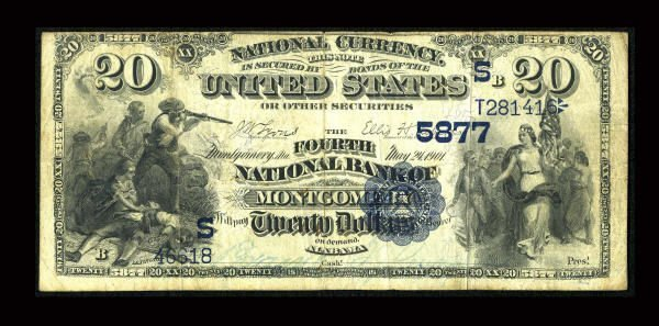 13155: Montgomery, AL - $20 1882 Date Back Fr. 555 The
