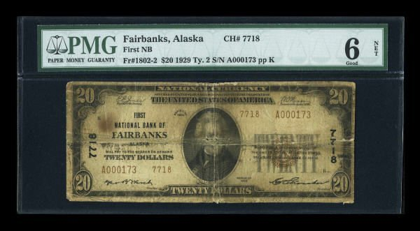 13156: Fairbanks, AK - $20 1929 Ty. 2 First NB Ch. #