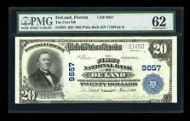 13289: DeLand, FL - $20 1902 Plain Back Fr. 653 The