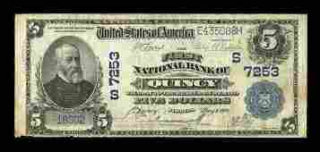 13293: Quincy, FL - $5 1902 Plain Back Fr. 598 The