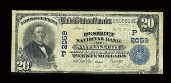 13929: Salt Lake City, UT - $5 1902 Plain Back Fr. 602
