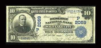 13930: Salt Lake City, UT - $10 1902 Plain Back Fr. 628