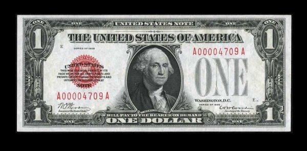 14019: Fr. 1500 $1 1928 Legal Tender Note. Gem Crisp