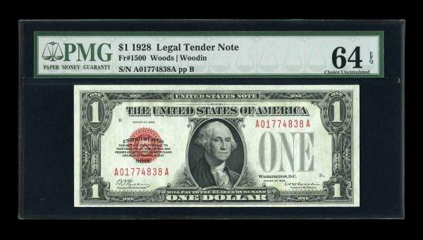 14023: Fr. 1500 $1 1928 Legal Tender Note. PMG Choice