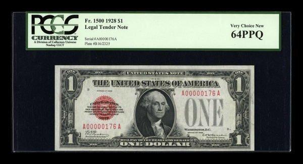 14025: Fr. 1500 $1 1928 Legal Tender Note. PCGS Very
