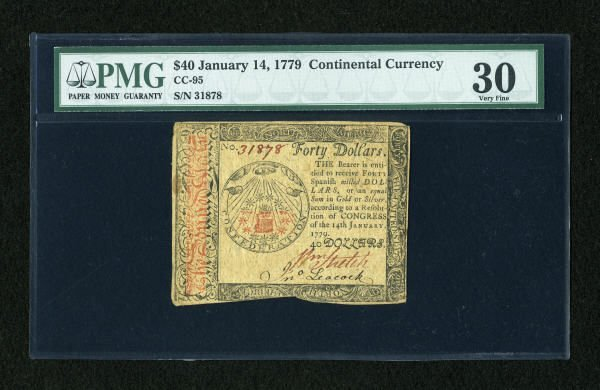 17023: Continental Currency January 14, 1779 $40 PMG