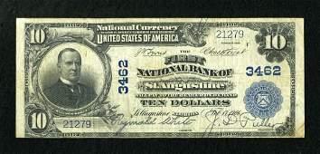 17761: Saint Augustine, FL - $10 1902 Plain Back Fr.
