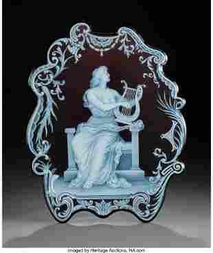 79088: George Woodall for Thomas Webb Cameo Glass Plaqu