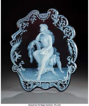 79089: George Woodall for Thomas Webb Cameo Glass Plaqu